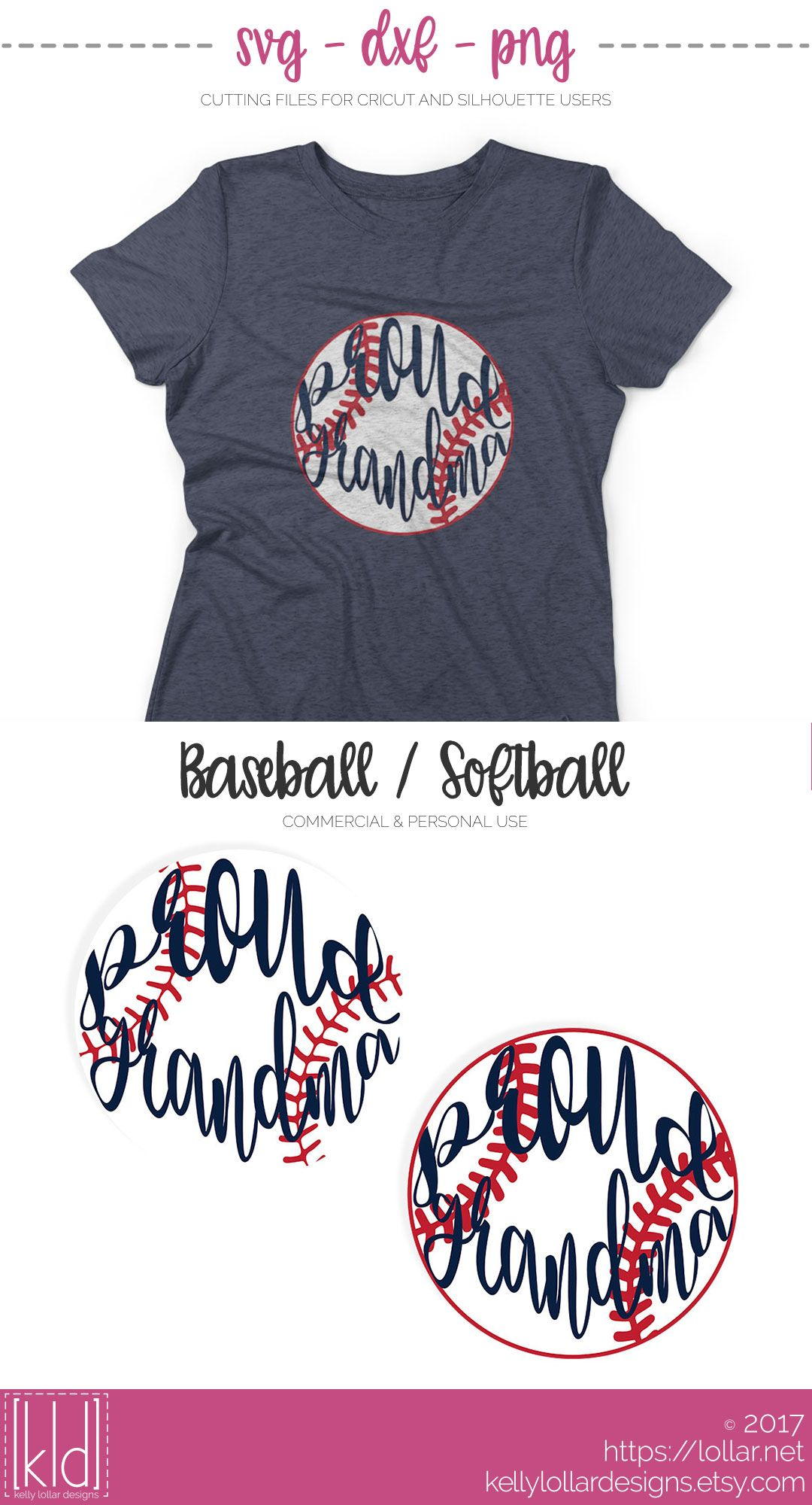 a80c56a3269 Proud Baseball   Softball Grandma svg file - Free For Personal Use by Kelly  Lollar Designs