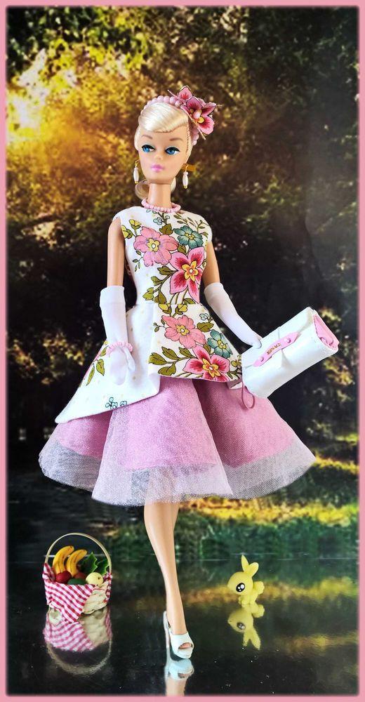 Ooak Fashions For Silkstone 12 Fashion Royalty Vintage Barbie With Zipper Ebay Barbie Pink Dress Barbie Fashion Vintage Barbie