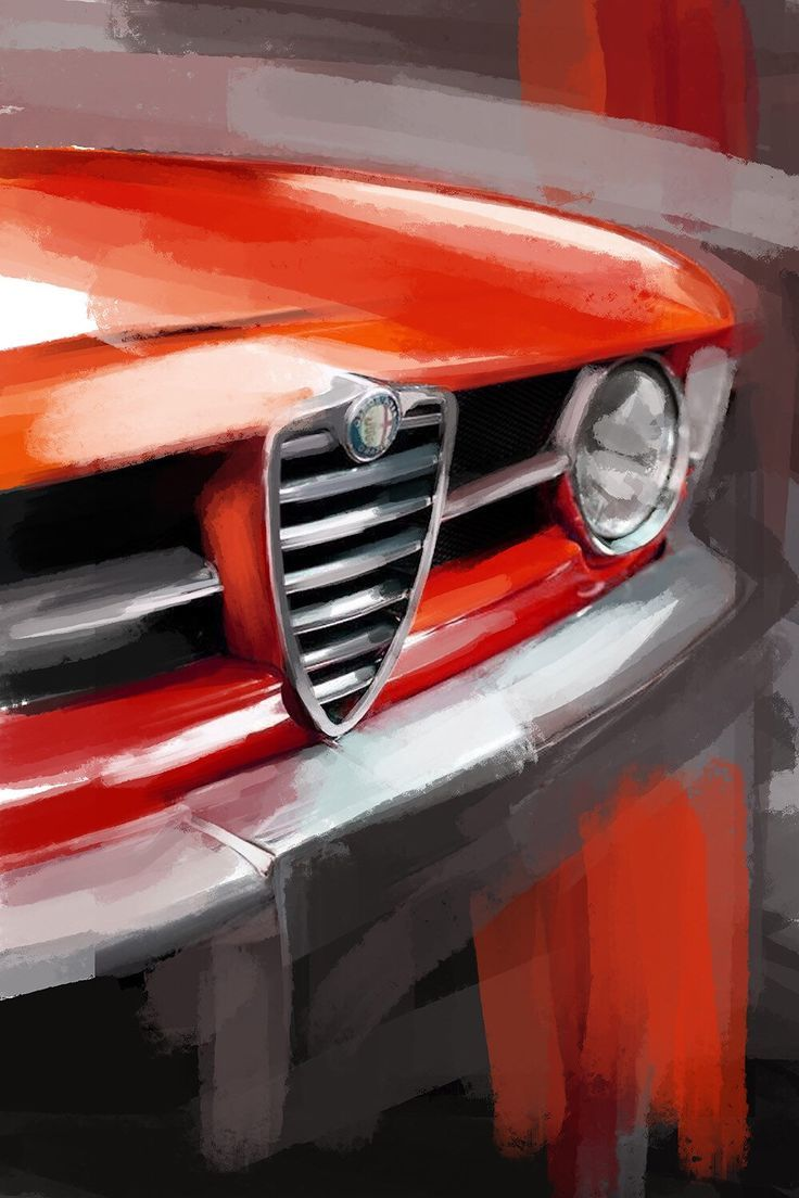 Alfa Romeo GTV classic car large wall art. Canvas print or a | Etsy