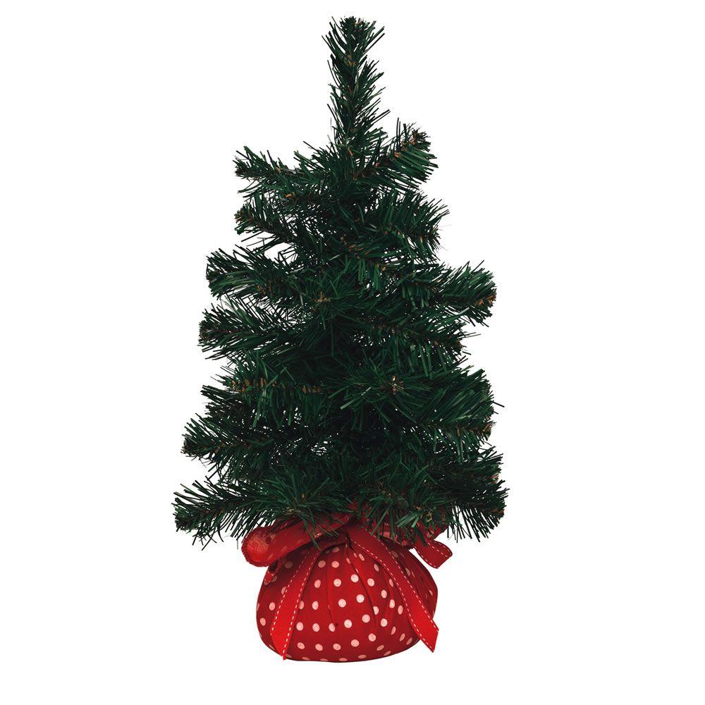 Wilko Christmas Tree Mini With Polka Dot Base 45cm Trees Decorations From Wilkinson Plus Wilko Christmas Tree Decorations Christmas Tree