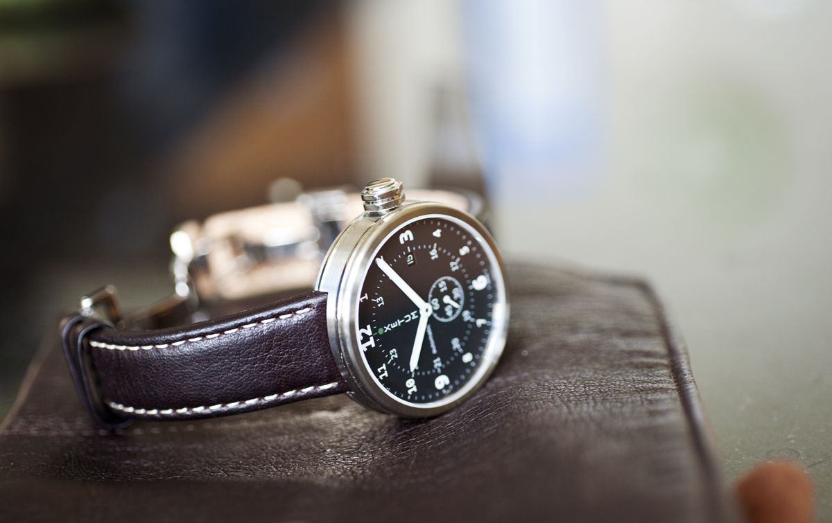 Xetum men's watch: Tyndall, black dial, brown leather strap