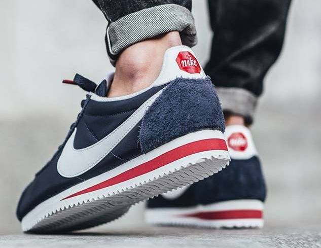 pretty nice 2a487 3a422 Nike Cortez Nylon Premium  Stop Sign  Midnight Navy