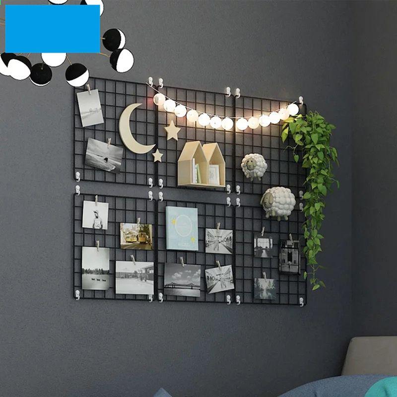 Creatieve Ijzeren Muur Opknoping Opslag Plank Wanddecoratie Kamer Foto Ansichtkaart Hanger Display Thui Slaapkamer Muur Decor Fotolijst Decor Muur Met Lijstjes