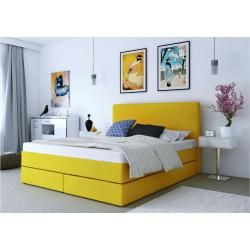 Photo of Eless Keigo Boxspringbett Gelb 140×210 cm