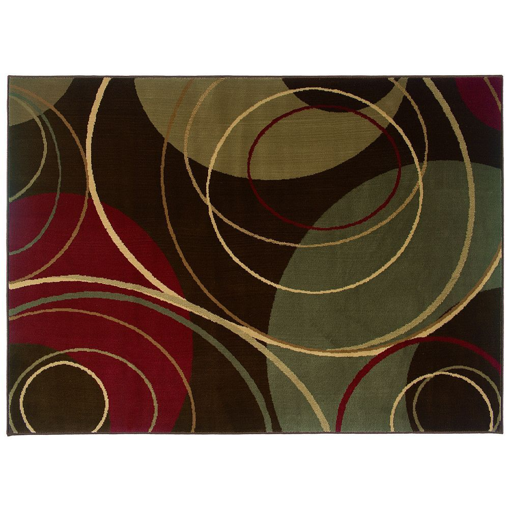 StyleHaven Andover Circle Rug, Brown