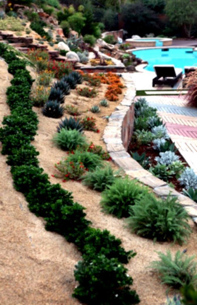 Steep Slope Yards On Pinterest Landscape Timbers Backyard