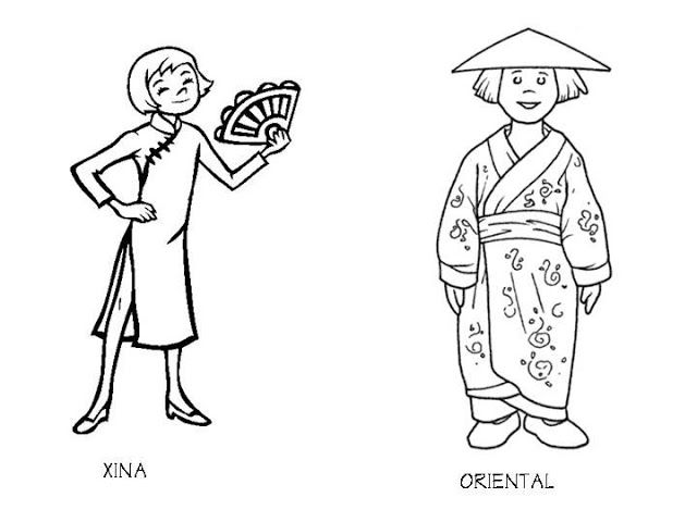 Chinese Costume Coloring Pages Animal