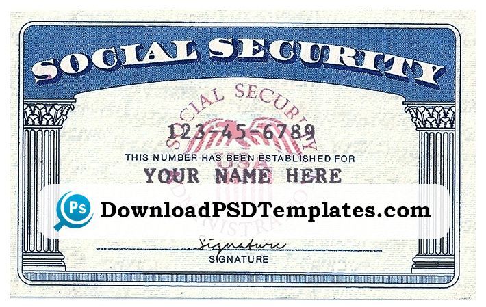 blank social security card template download 9