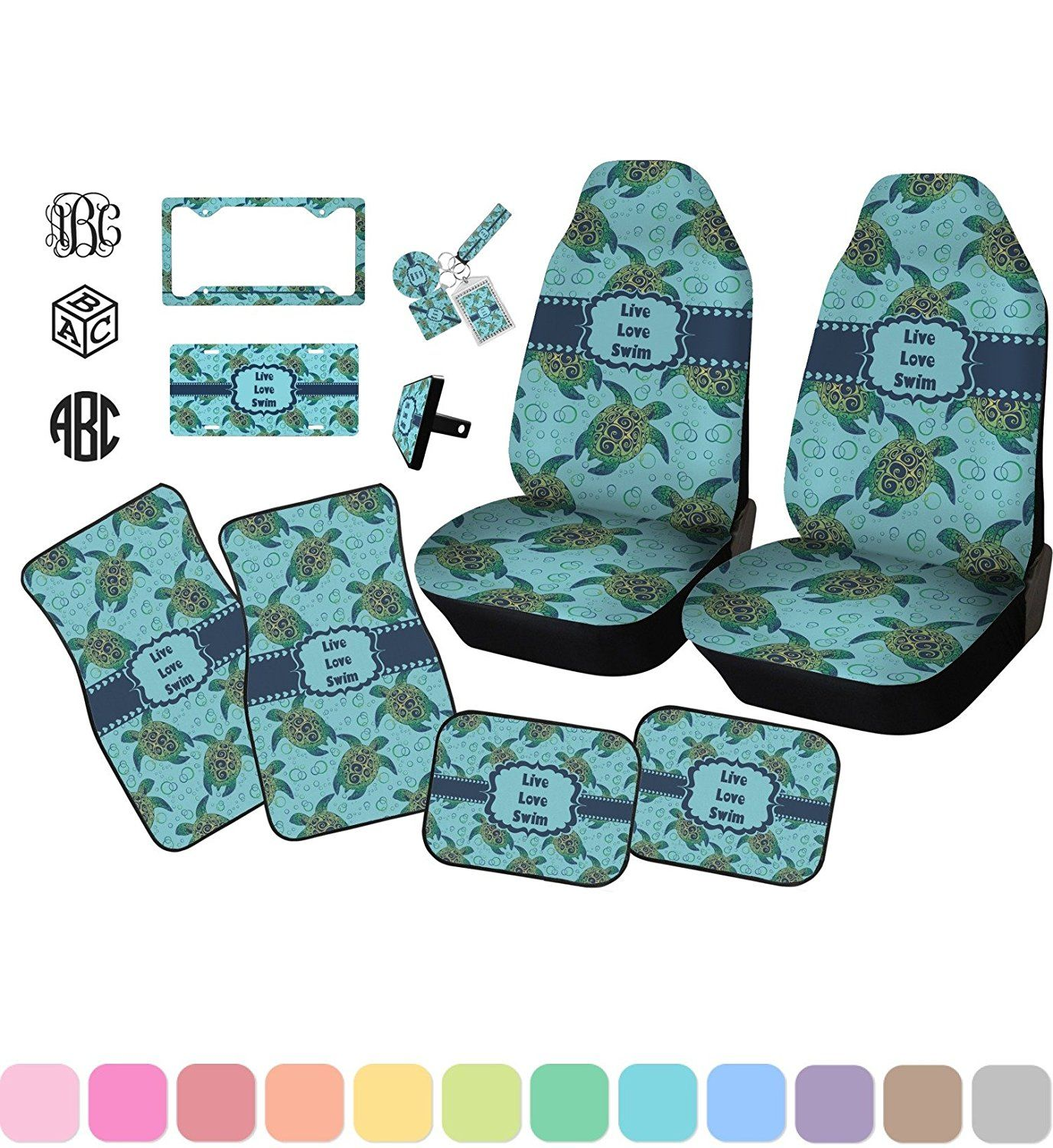 Admirable Amazon Com Sea Turtles Car Floor Mats Set 2 Front 2 Caraccident5 Cool Chair Designs And Ideas Caraccident5Info