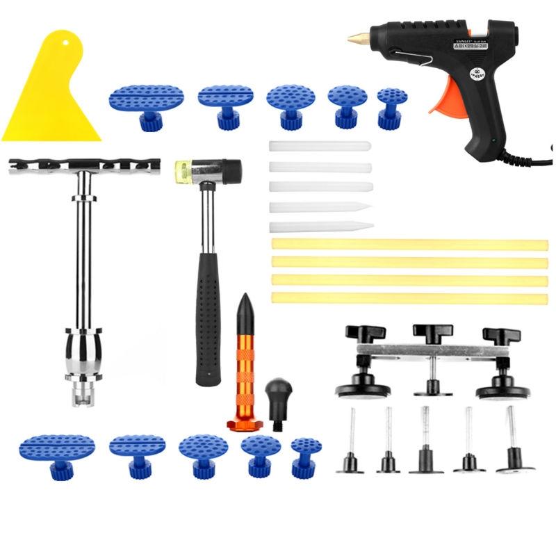 66.74$  Buy now - http://aliigf.worldwells.pw/go.php?t=32723854054 - PDR Paintless Dent Repair Kit Slide hammer puller Bridge set Hammer dent Removal