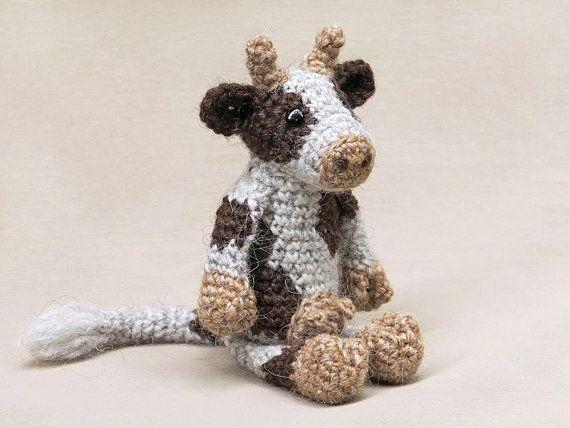Easy Amigurumi Pdf : Noof amigurumi crochet cow pattern easy patterns cow and yarns