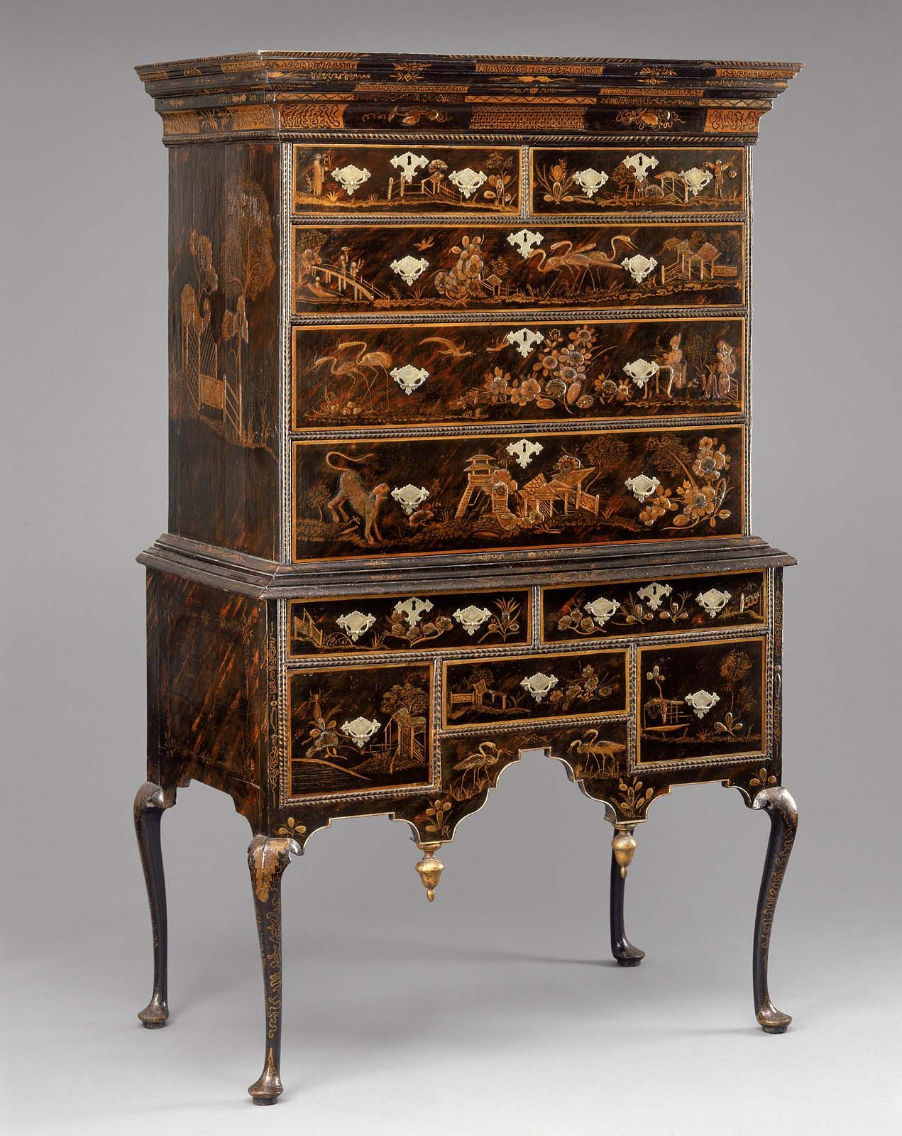 High Chest Of Drawers Chippendale Furniture Early American Furniture Japanned Furniture