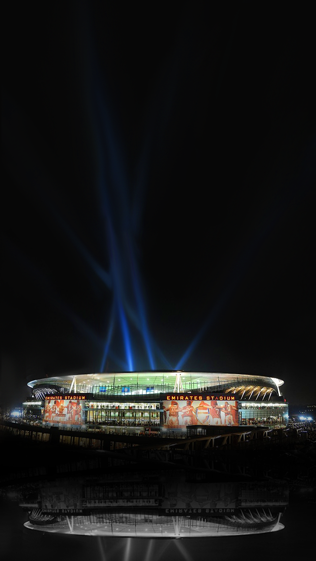 Emirates Stadium Arsenal Wallpaper Night Iphone Arsenal Arsenal