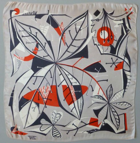 Vintage 1950's Mid Century Modern Liberty of London England Silk Scarf Old | eBay