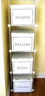 Cool idea for my piles of stuff everywhere.