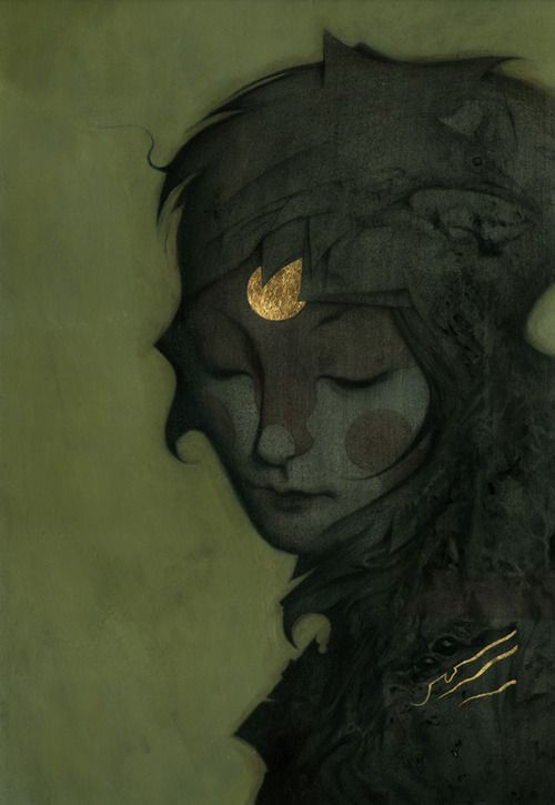 Dawn (series)    Acrylic & Gold Leaf on Board  artworks    By João Ruas aka feral kid, my favorite artist from brasil nowadays    follow João on tumblr
