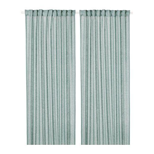 LEJONGAP Curtains, 1 pair, green | Dormitorio