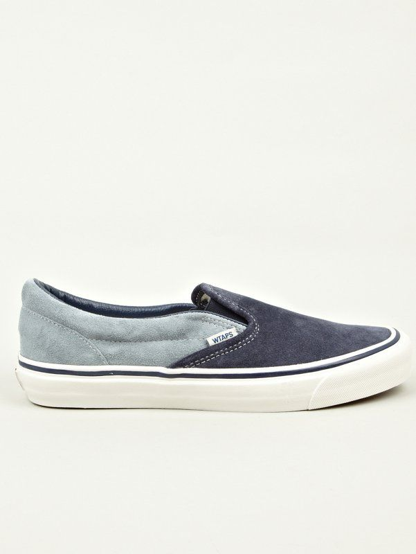 Vans Vault X WTAPS Men's Navy OG Classic Slip-On LX Sneakers £60