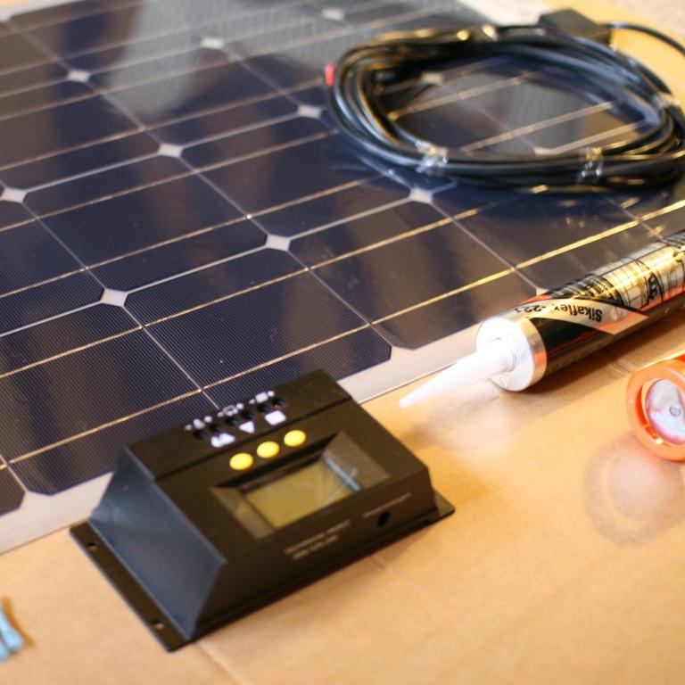 Vw T4 T5 T6 Stick On Solar Panel Kit Solar Panel Kits Solar Kit Solar Panels