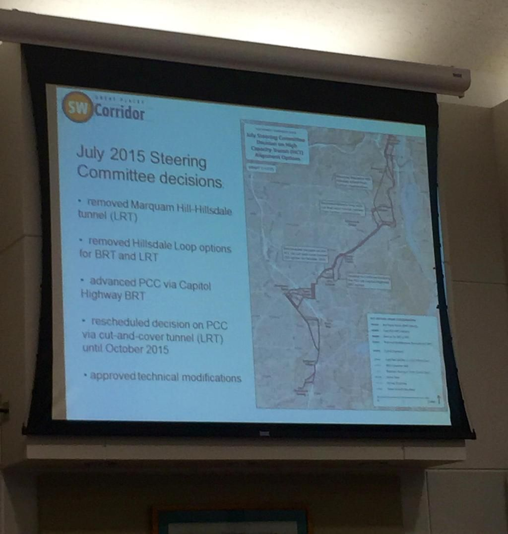 Info on recent @SWCorridor Steering Committee decisions.