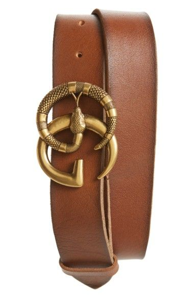 19d981507 GUCCI GG Marmont Snake Buckle Leather Belt. #gucci Fashion Runway Show, Distressed  Leather