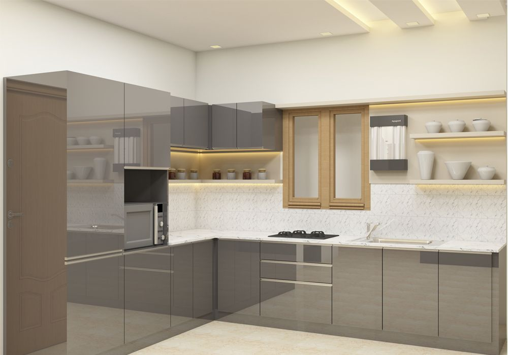 L Shaped Kitchen Interior Design India Valoblogi Com