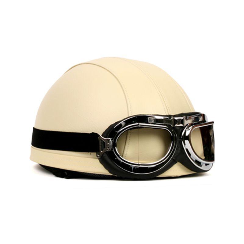 vintage motorcycle helmets with goggles half retro helmet. Black Bedroom Furniture Sets. Home Design Ideas