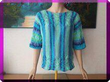 """Photo of Strickanleitung Kimono – Pulli """" Karibik """""""
