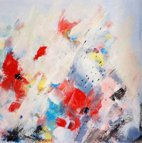 Resumen de pintura láminas flores abstractas arte por Artzaro                                                                                                                                                                                 Más