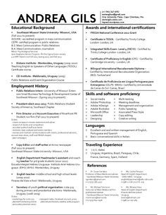 2 column resume format pinterest resume format and template