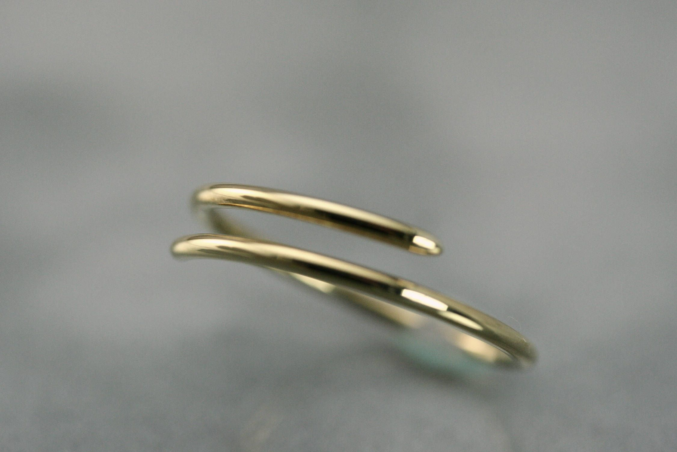 Gold Spiral Ring 10k Or 14k Solid Gold Spiral Ring Gold Adjustable Rings Thumb Rings Rings Gold