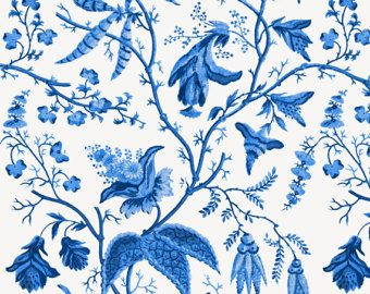 Chinoiserie Fabric Chinese Garden In Cobalt By Willowlanetextiles Blue And White Chintz Fl Cotton The Yard With Spoonflower