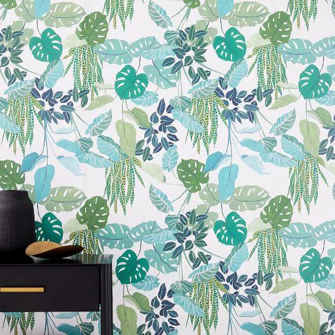 Wallpaper & Decals west elm Tropical print wallpaper