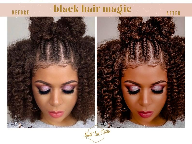 8 Melanin Mobile Presets Black Hair Presets Dark Skin Etsy Brown Skin Brown Skin Girls Colors For Skin Tone