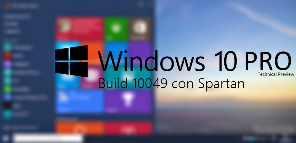 Windows 10 Tech Preview build Pro 10049 English ISO with Direct