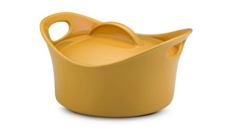 Rachael Ray Bubble and Brown 2.75-Qt. Round Casserole-Yellow