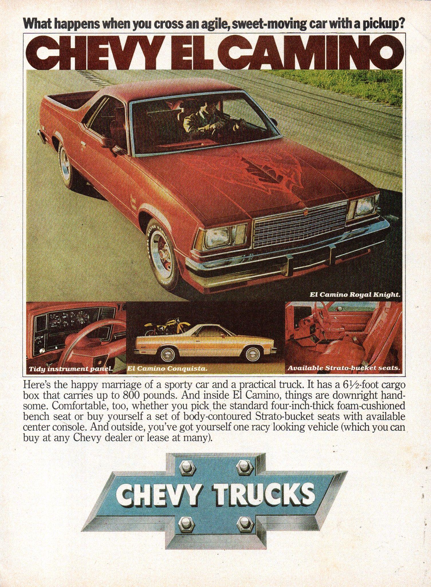 1979 Chevrolet Chevy El Camino Regal Knight Conquista Utility