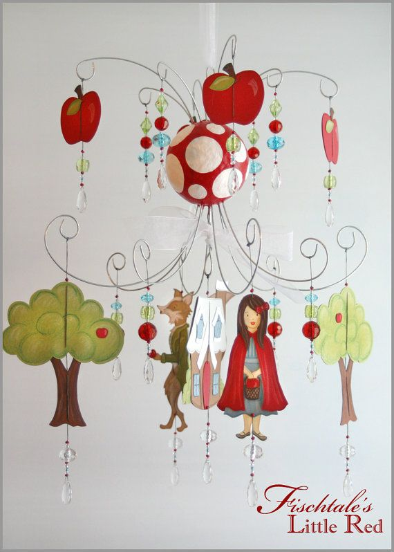 Little Red Ridding Hood Chandelier Mobile Baby by fischtaledesigns, $155.00