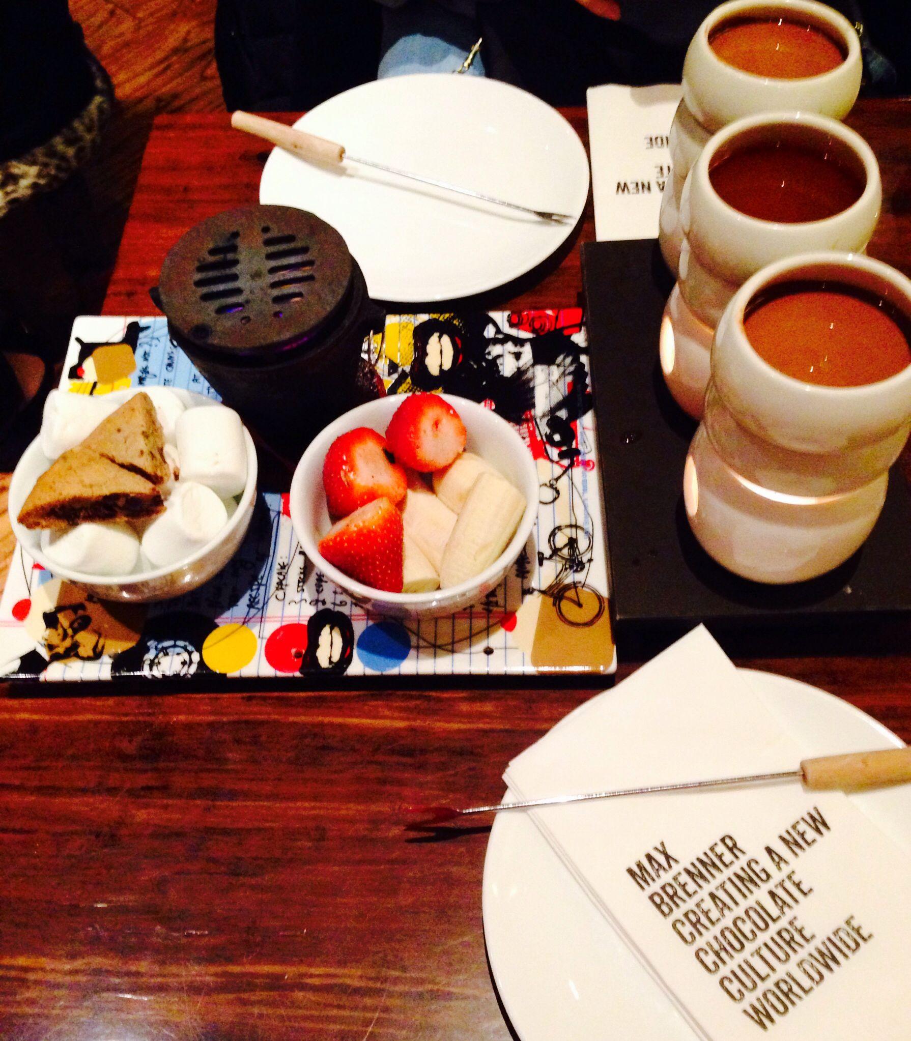 Chocolate fondue @ Max Brenner, NY.