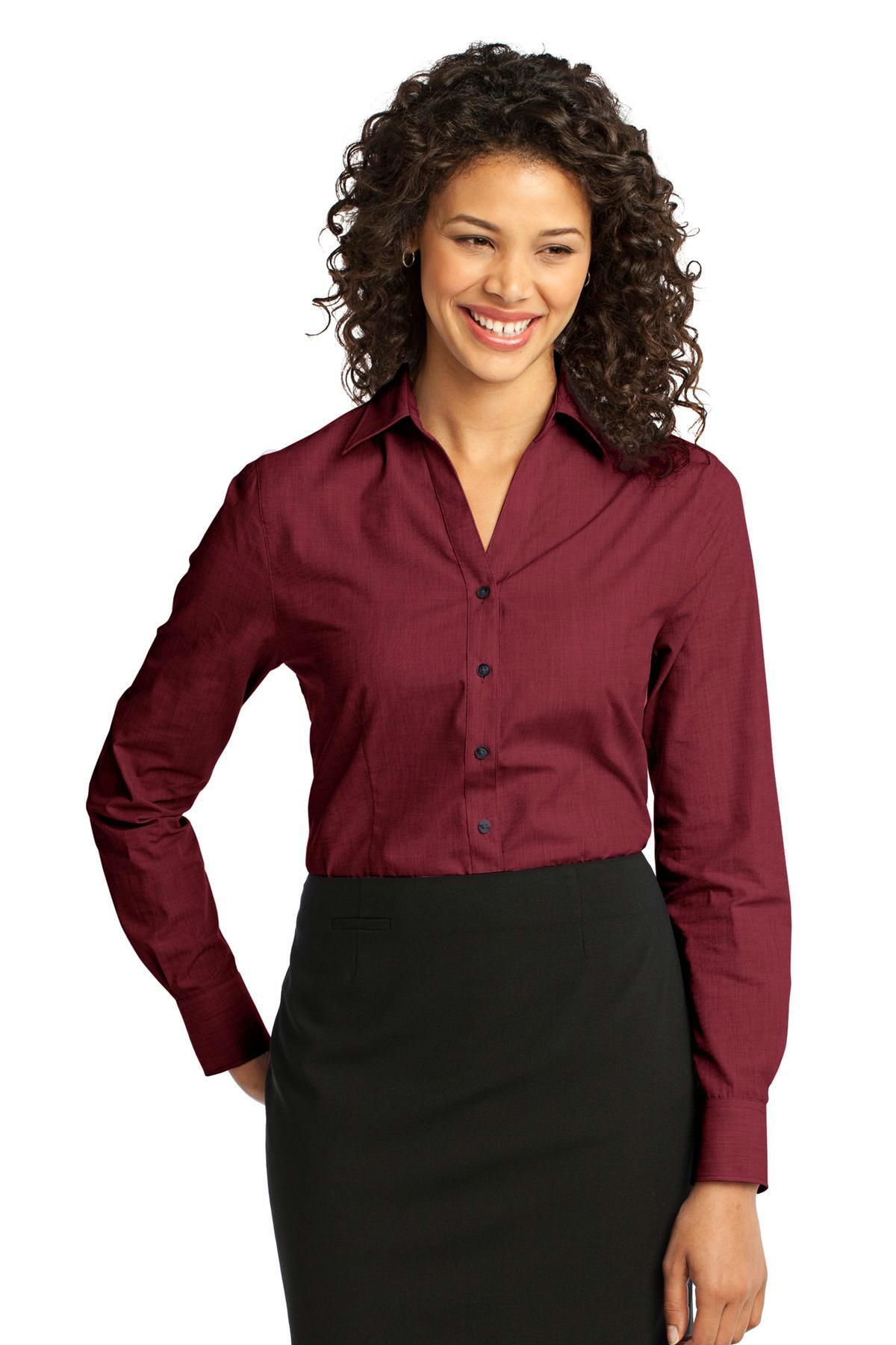 Port authority ladies crosshatch easy care shirt l products