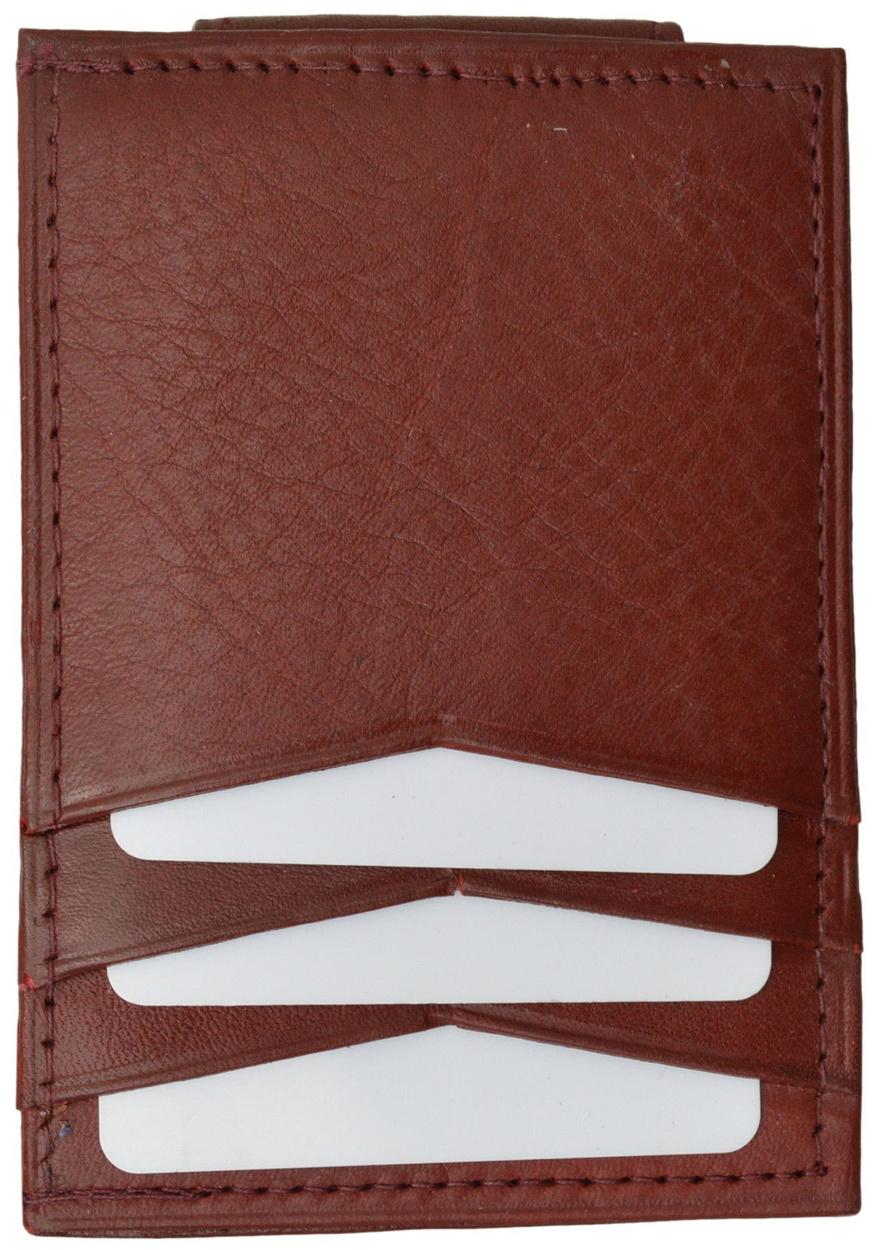 Mens Genuine Leather Money Clip Credit Card Holder Wallet Multiple Colors 1010R (C)