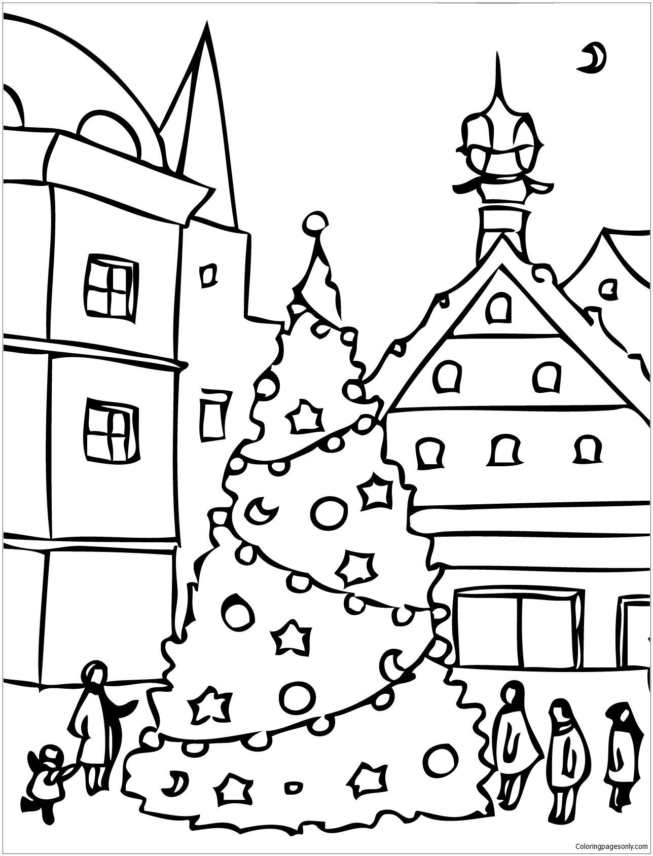 Christmas Day Coloring Page With Images