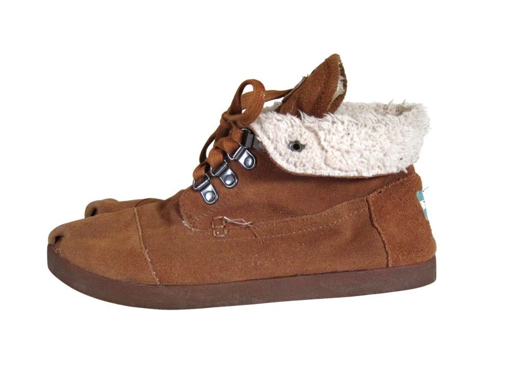 Toms Ankle Boots Faux Fur Lined Winter
