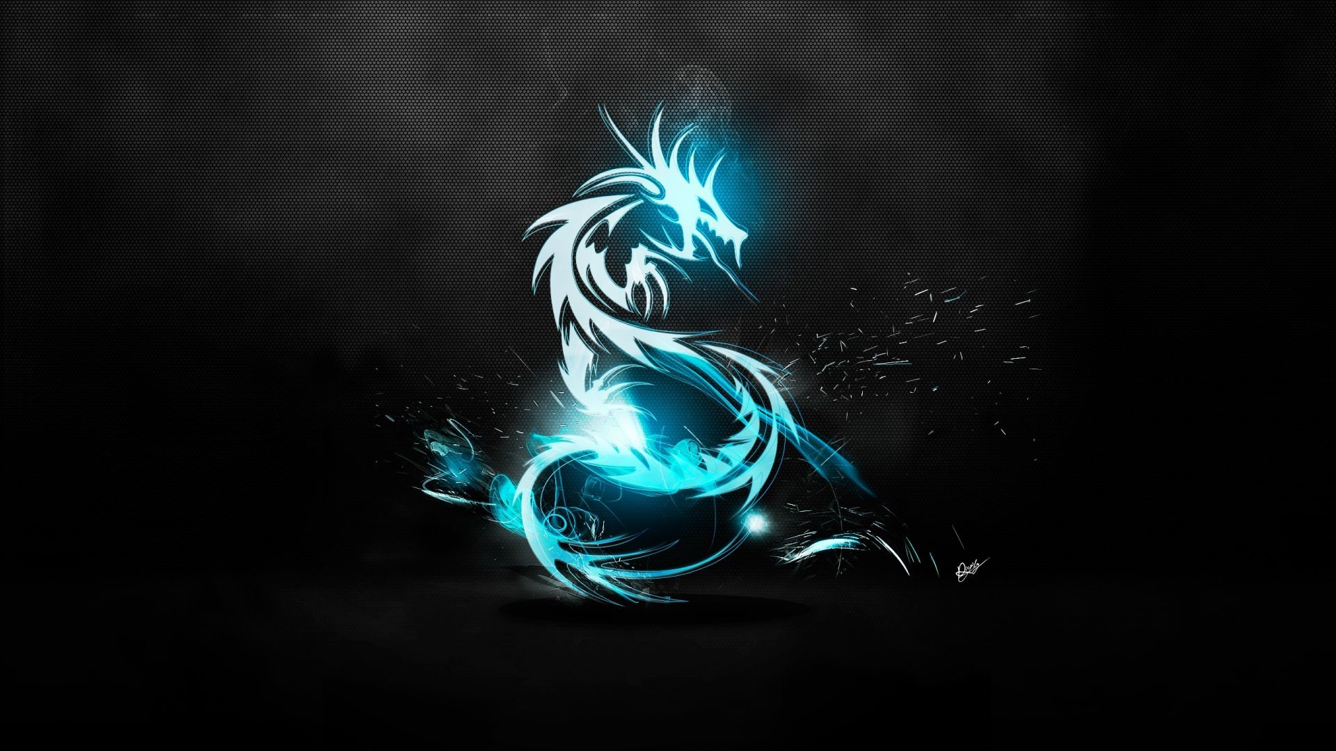 Wallpaper dragon spray symbol neon 1920x1080 Gambar naga