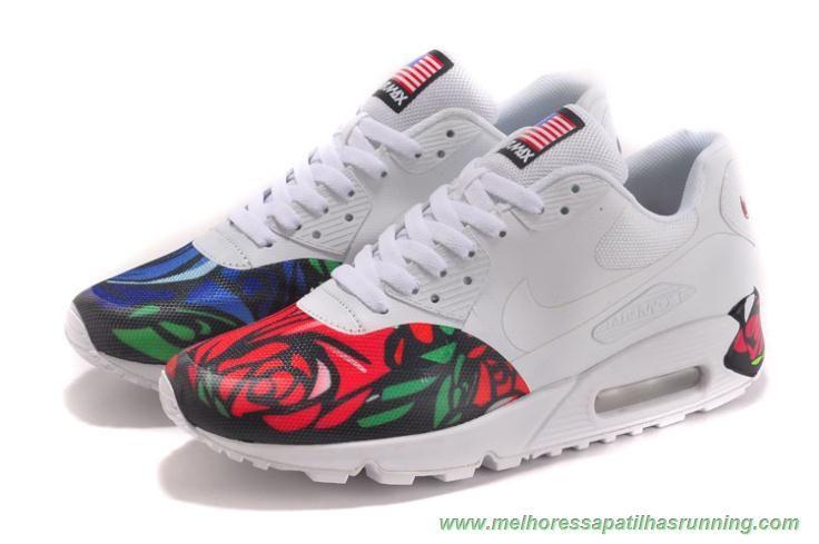 Vermelho Azul Rosa 613841 151 Nike Air Max 90 Masculino Nike Air