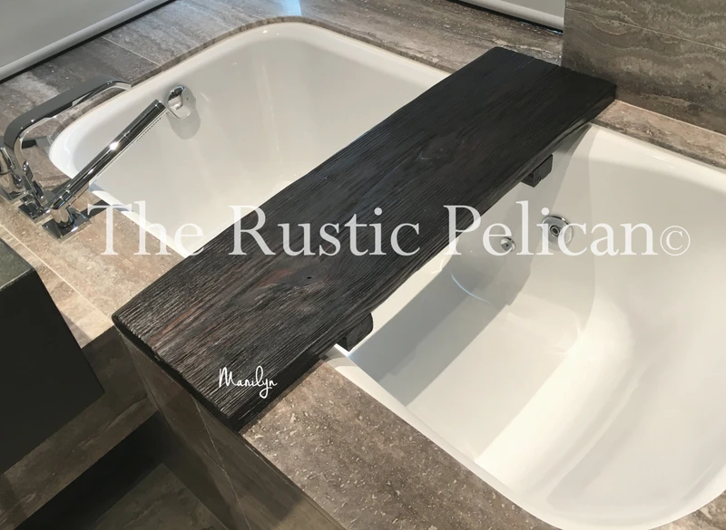 Bath Tray Bathroom Accessories Tray Wooden Bath Caddy Tub