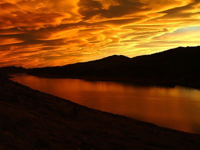 Horsetooth Reservoir Sunset...spending the day here never gets old, especially when it ends like this