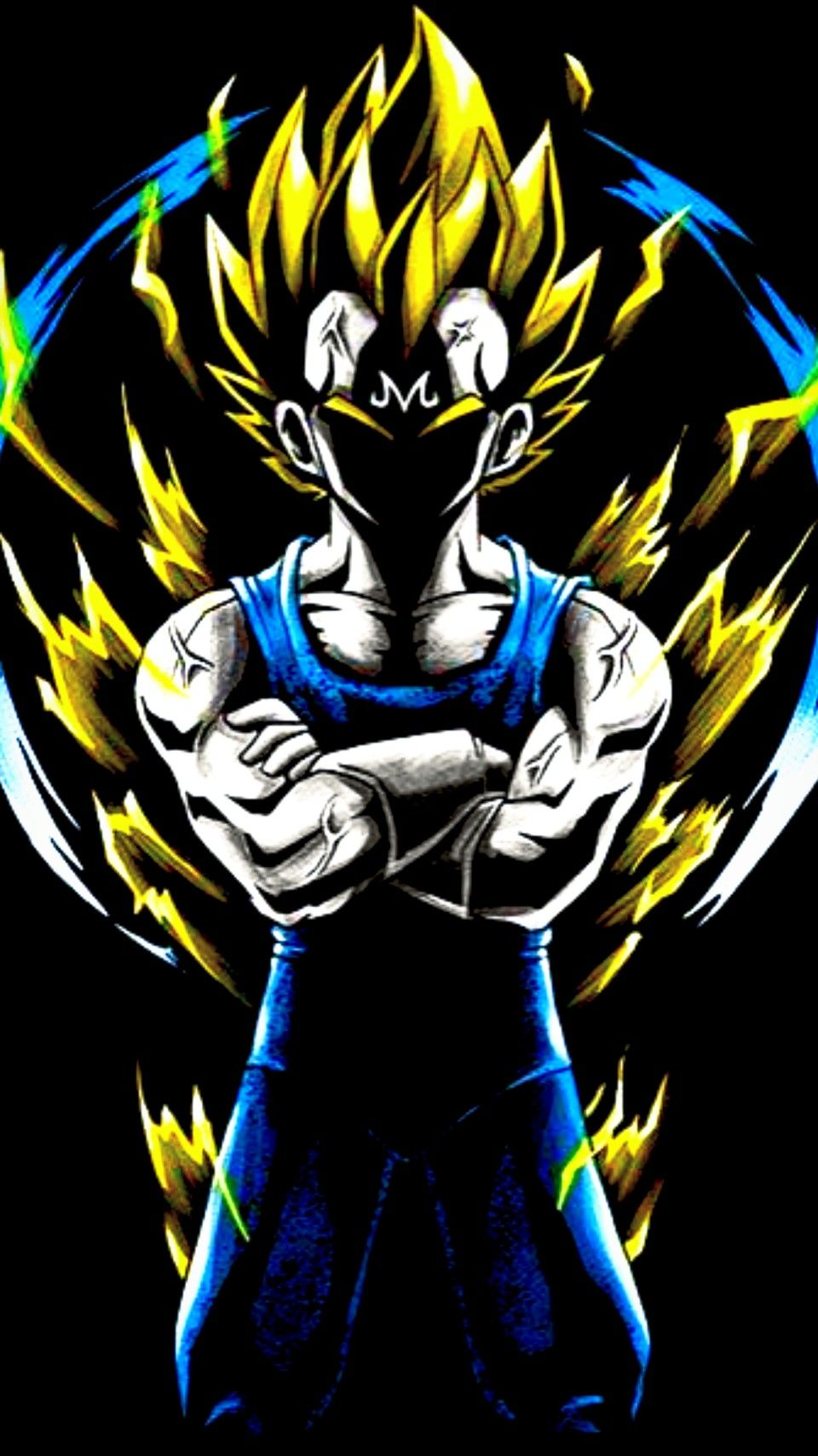 Majin Vegeta Dragon ball z iphone wallpaper, Dragon ball