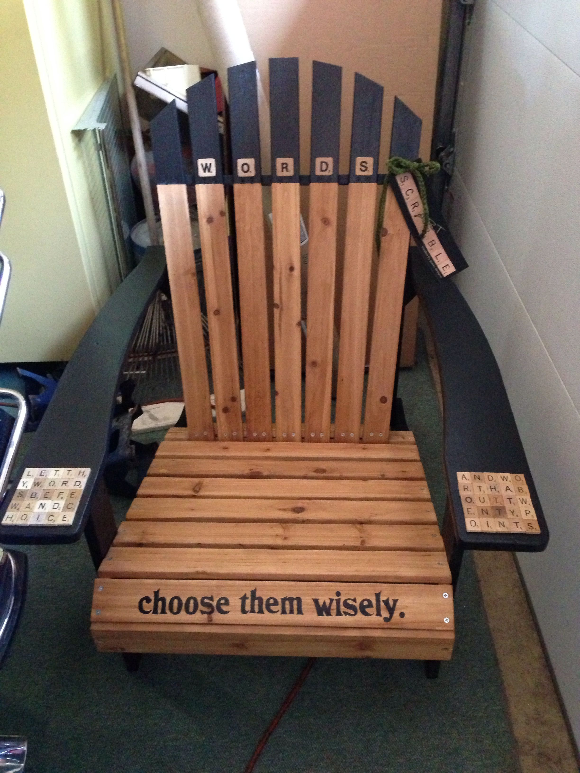 Adirondack Chair Painted By Allyn Lee Of Edinboro Pa For Lakeside