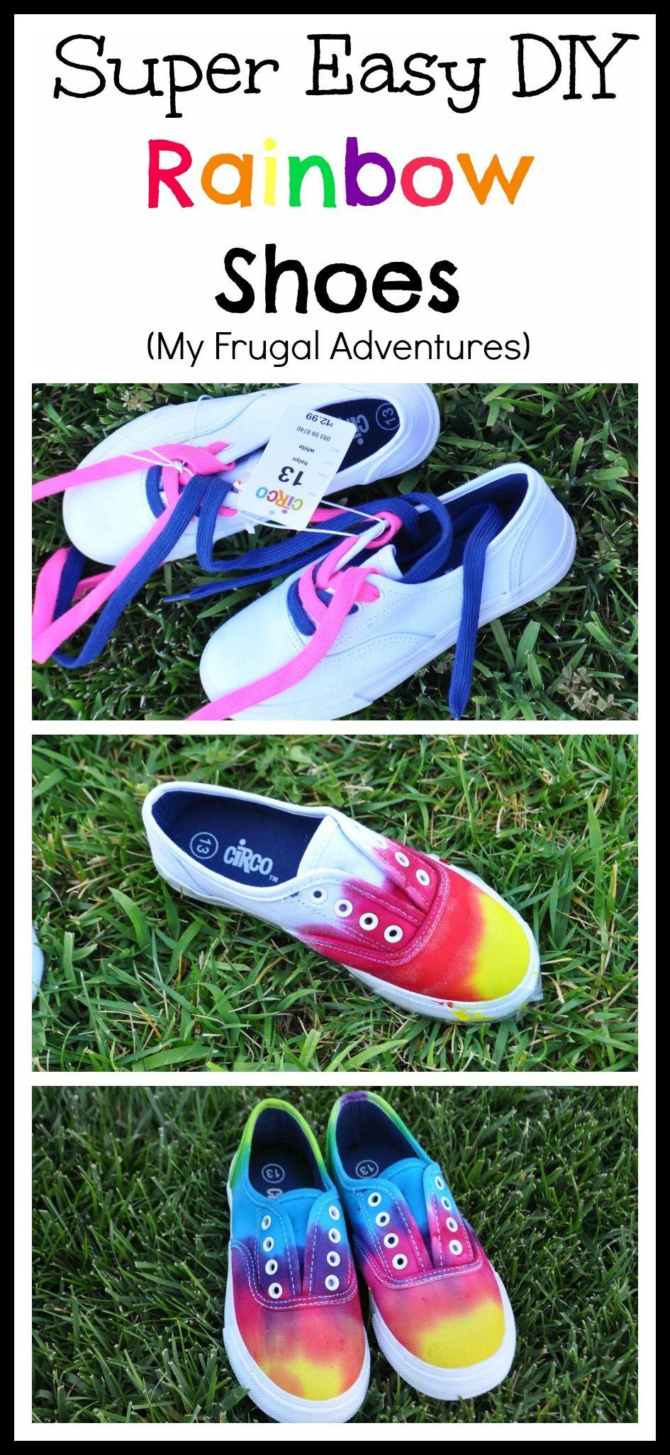 DIY Tie Dye Children's Shoes - My